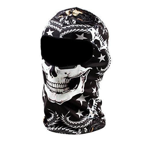 Balaclava Ski Mask Premium Motorcycle Face Mask Outdoor Neck Breathable Tactical Hood,Snake Skull
