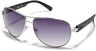 GUESS Factory Men's Textured-Arm Aviator Sunglasses