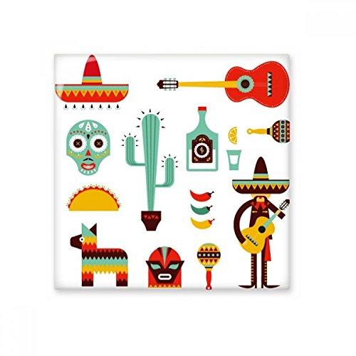Sombrero Cactus Tequila guitarra Chili México cultura Elment cerámica crema decoración de decoración de azulejos para baño cocina azulejos de pared azulejos de cerámica