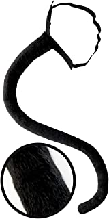 Black Cat Tail Costume Accessory Neko Long Furry Tails Sexy Women Costume for Halloween & Cosplay Adult & Kids