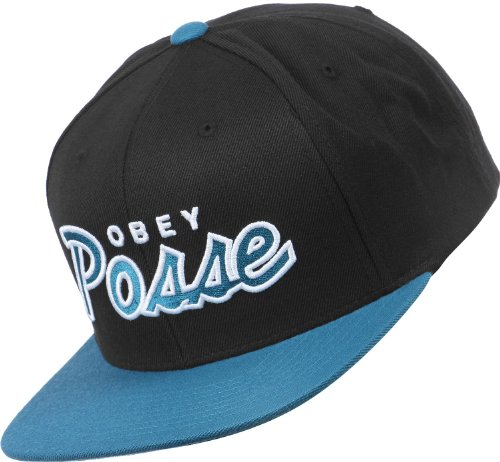 Obey - Casquette Snapback Homme Posse - Black/Teal