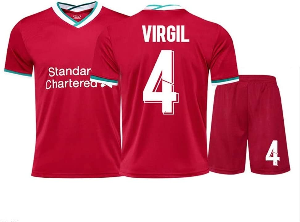 Camiseta 4# Virgil Van Dijk AHP Camiseta de f/útbol Color : Red, Size : Adults-2XL Ropa de Entrenamiento para Adultos y ni/ños Deportes Transpirables de Manga Corta