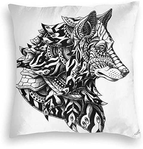 KEROTA Funda de almohada de terciopelo suave con diseño de jirafa con ojos grandes y pestañas largas, funda de almohada cuadrada decorativa para sofá, dormitorio, coche, 45,7 x 45,7 cm