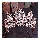 YUNGYE Novia de la Boda de la Vendimia cristalina de la Tiara con Diamantes de imitación Peine del Crown Princess Proms Concursos de Fiestas de cumpleaños Cinta de Cabeza del Casco de Peine del Pelo