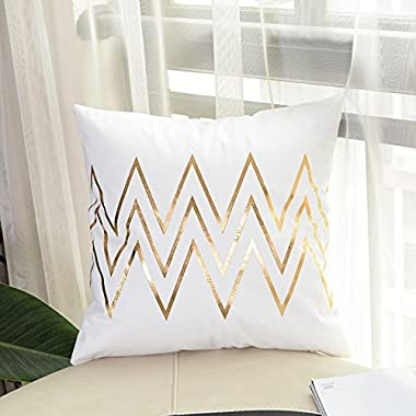 Zehui 45x45CM Modern Style Wave Pattern Design Square Pillowcases Plush Pillow Case Waist Cushion Cover Car Sofa Bed Home Decor