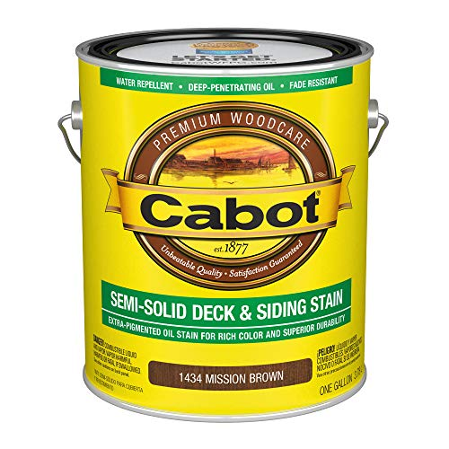 Cabot 140.0001434.007 Semi-Solid Deck & Siding Stain, Gallon, Mission Brown
