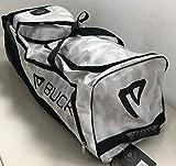 Buck Athletics The Beast New Large Wheeled Baseball Bag White camo BABWB120
