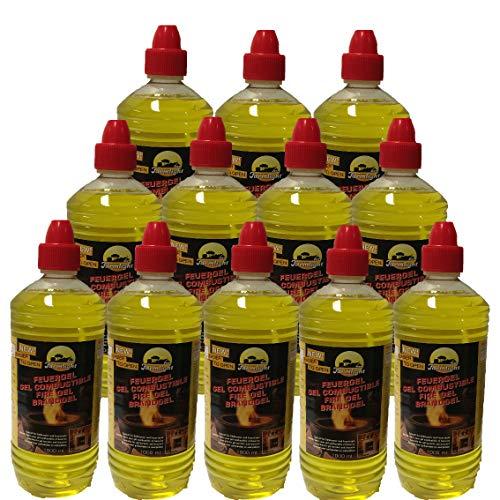 12 botellas de 1 litro de gel combustible para chimeneas de