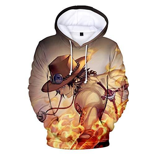Zcbm Pullover 3D Gedruckt ONE Piece Portgas · D · Ace Tasche Langarm Kapuzensweatshirt Sport Im Freien Sweatshirts Kapuzenpullover Kleidung Mode Hoodie Top Outwear,XL
