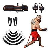 YNXing Fuerza de Las piernas y Sistema de Correas de Entrenamiento de la Agilidad Cuerda de Entrenamiento de la Fuerza para el Fútbol Baloncesto Taekwondo Yoga Equipos de Boxeo (Negro 250lb)