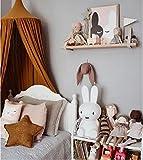 Restbuy Kinder Betthimmel Baldachin aus Baumwolle Mückenschutz Moskitonetz Insektenschutz Baby indoor Play Lesen Zelt Dekoration für Bett und Schlafzimmer (Braun) - 2
