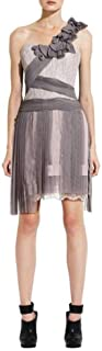 BCBG Maxazria Runway Pleated Contrast Lace Dress QHS6L372-6D6