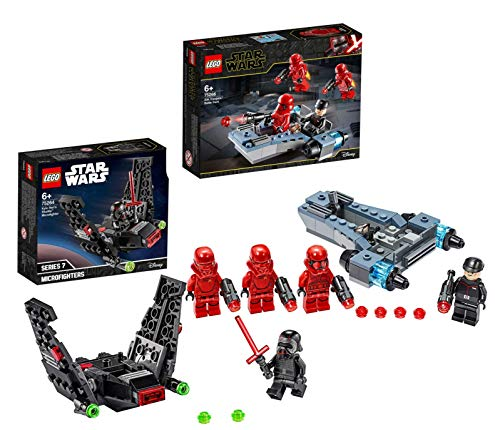 Legoo Lego Star Wars-Set: 75266 - Sith Troopers Battle Pack + 75264 - Kylo Rens Shuttle Microfighter, ab 6 Jahren