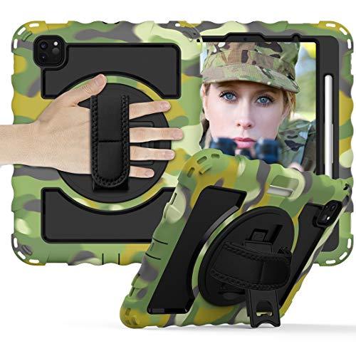 Tablet PC Bolsas Bandolera Caja protectora es for iPadPro11 2018/2020 durable de la caja protectora anti-gota con todo incluido con el soporte giratorio / correa de mano y la caja protectora de la cor