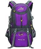 Escursionismo Viaggio Zaino 40L / 50L / 60L - Daypack Outdoor Campeggio Viaggi Trekking Arrampicata Zaino Uomini Donne, Viola, 60L