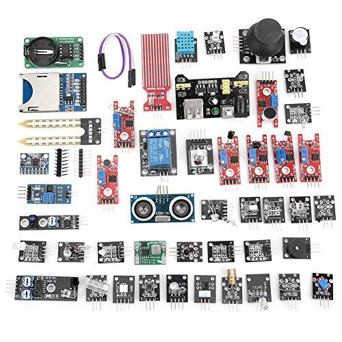 Kit de surtido de sensores de 45 piezas, kit de inicio de módulos de sensor, conjunto de placa de sensor de desarrollo actualizado para bricolaje profesional