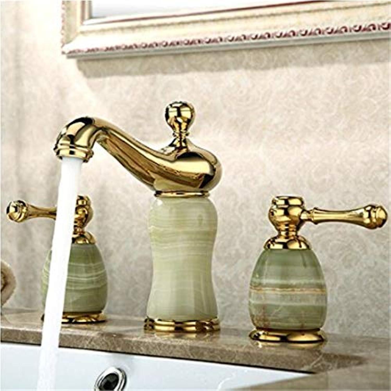Wasserhahn Moderner Luxus-Wasserhahnmischerwasserhhne Kupfer Becken Wasserhahn Jade Keramik Warm Und Kalt Waschbecken Wasserhahn