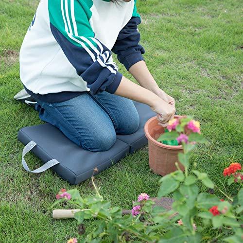 Gardenised QI003893 Foldable Garden Memory Foam Kneeler Pad, Black