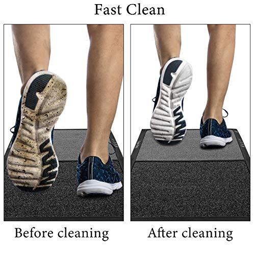 Alfombrilla desinfectante para zapatos, alfombras de entrada lavables Alfombrilla para suelo Alfombrilla absorbente de agua Alfombras Felpudos Alfombrilla antideslizante para el hogar, la cocina