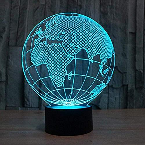 Diaporama 3D Fzai LED nachtlampje 3D Europa kaart illusie lamp mod light 7 kleurverandering touch schakelaar met USB-kabel kantoor tafellamp kinderen verjaardag