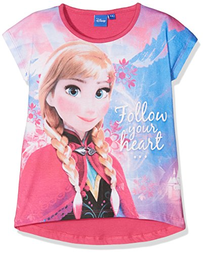 La Reine des Neiges Cute Fix T-Shirt, Rose (Fushia 294), 4 Ans (Taille Fabricant: 4Y) Fille