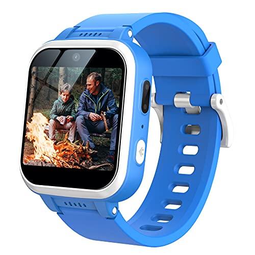 Kids Smart Watch with 90°Rotatable Camera Smartwatch Touch Screen Kids Watch Music Pedometer Flashlight Games Digital Wrist Watch for Boys
