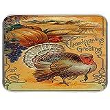 Thanksgiving Dish Drying Mat 18x24 inch Turkey Pumpkin Grape Corn Autumn Fall Drying Pad Dish...