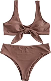 be4b481da423f Amazon.com: Browns - Bikinis / Swimsuits & Cover Ups: Clothing ...
