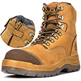 ROCKROOSTER Work Boots for Men,8 inch,YKK Zipper,Steel Toe,Slip Resistant Safety Oiled Leather Shoes,Static Dissipative,Breathable,Anti-Fatigue,Quick Dry(AK232Z 10)