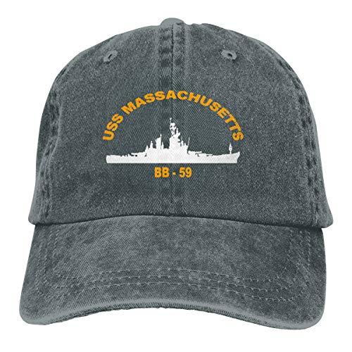 USS Massachusetts BB 59 Unisex Adult Baseball Hats Cowboy Hats Denim Hats Dad Hat