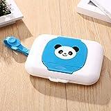 LIJ Wet Wipes Box Cartoon Travel Wipe Case Child Wet Storage Holder Tissue Storage Box,Blue
