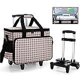 Yarwo Maletas de Transporte para Máquinas de Coser, Bolsa de Trolley para Máquina de Coser con Tablero Duro para...