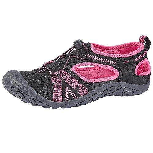 Northwest Territory, sandali da trekking Carolina per donne, ragazze e bambine, (Black / Pink), 38,5 EU