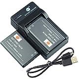 DSTE CT-3650 - Batería para cámara (2 unidades) y cargador compatible con Contour GPS HD 1080P