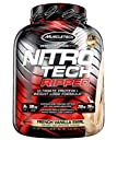 MuscleTech Nitro-Tech Ripped Whey Protein Powder + Weight Loss Formula, Whey Protein Isolate Shake, 30 Grams Protein, 6.6g BCAA, Stimulant Free, Tastes Great, French Vanilla, 4 Pounds (42 Servings)