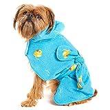Barkbox Dog Bath Robe (Rubber Duck, Small)