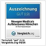 Newgen Medicals Luftkissen: Aufblasbares Nackenhörnchen mit hochwertigem Fleece-Bezug, 2er-Set (Aufblasbares Nackenkissen) - 3