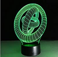10スタイルアブストラクトノベルティ3Dランプ7色変更LED3dナイトライトタッチスイッチ家の装飾用溶岩ランプクリエイティブギフト