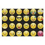 1000 piezas de rompecabezas de tren para niños, expresión Smilie, Whatsapp, emoción, cara de risa, rompecabezas felices para niños, rompecabezas de tren para adultos, 29,53 x 19,69 pulgadas, para niñ