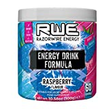 Player 1 Gaming Fuel Energy Drink Raspberry - 60 Servings 5 Calories Zero Sugar 0 Fat Added Electrolytes to aid Hydration Packed with Antioxidants Suitable for Vegetarians and Vegans