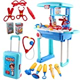 Toyshine Deluxe Doctor Set Convertible Suitcase Portable Role Play Toy Set with Accessories