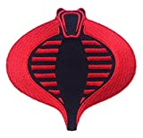 Patch Squad Men's G.I. JOE Cobra Logo Embroidered PATCH (Black/Red Iron On)