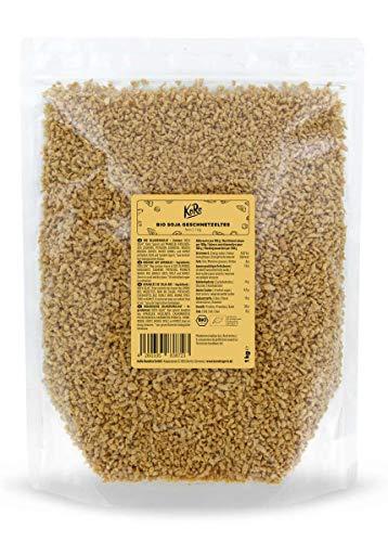 Koro - Trozos finos de soja texturizada BIO 1 kg - Paquete conveniente, alternativa a la carne en la mejor calidad, ecológicos, libres de ingeniería genética y procedentes de Austria