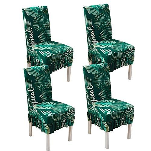 LYY Fundas antideslizantes para silla, fundas de silla de comedor de poliéster todo incluido para silla de comedor, funda universal para silla de respaldo alto
