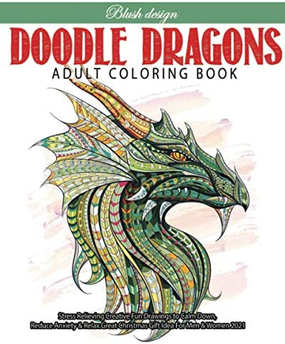 Doodle Dragons Adult Coloring Book product image