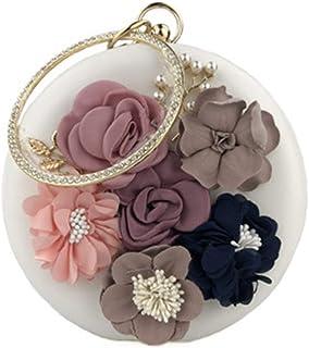 Hava Kolari Multi-Color Runde Handgemachte dreidimensionale Blume Strass Handschellen Damen Bankett Tasche Clutch Handgema...