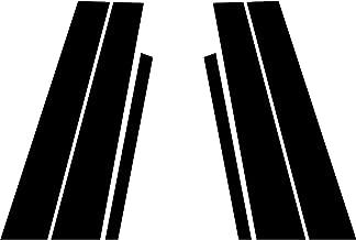 Rvinyl Rtrim Pillar Post Decal Trim for BMW 3-Series 2006-2011 (Sedan) - Gloss (Black)