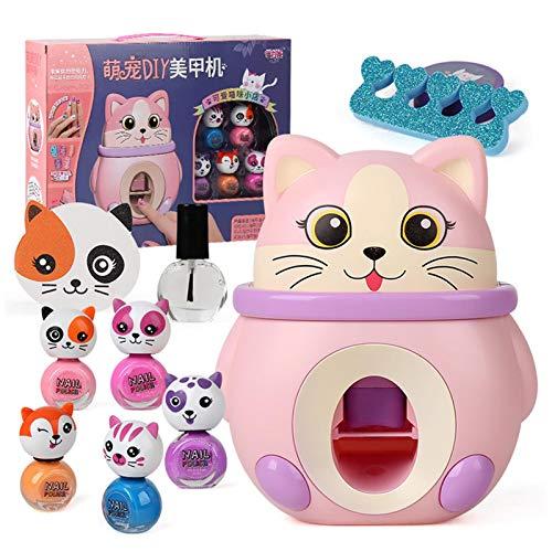 AIHOME Nail Art Stamper Kit, Kid Nail Polish Stampers, Nail Art Machine Printer Sets for Kids, Cute Pet Nail Art Studio Set, Nail Polish Gift for Age 8 9 10 Teenager Girls
