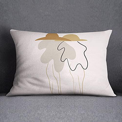 Bonamaison Fundas para Cojínes, Polyester, Multicolor, 35x50 Cm