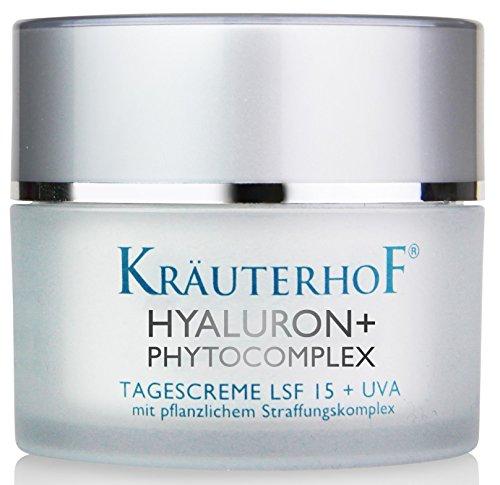 Tagescreme Lichtschutzfaktor LSF 15 UV-Schutz Kräuterhof 30ml Frauen Männer Hyaluronsäure Made in...